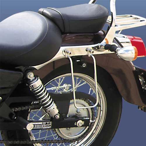 Soporte para alforjas EVGATSAUTO 1 par de soportes de montaje para alforjas de motocicleta apto para XL883//1200 HD1450//1584 Negro
