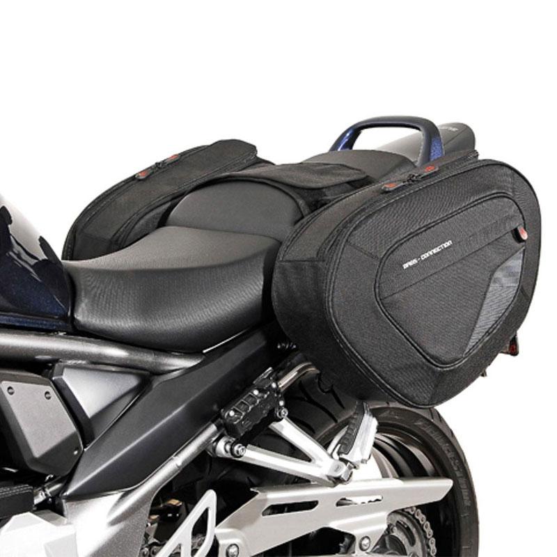 Yisentno Barras de alforjas Soportes de Soporte de alforjas f/ácil de Instalar duraderas para Suzuki Honda Plateado