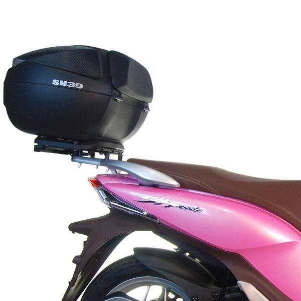 Negro Shad H0SM13ST Soporte de Ba/úl para Honda SH-Mode 125