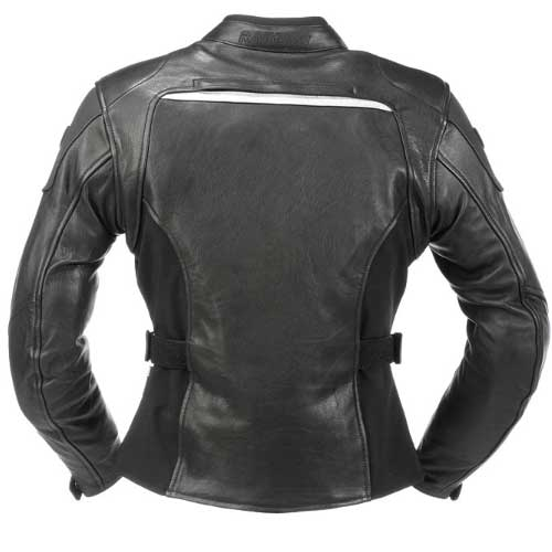 Chaqueta moto invierno Rainers de piel para mujer impermeable
