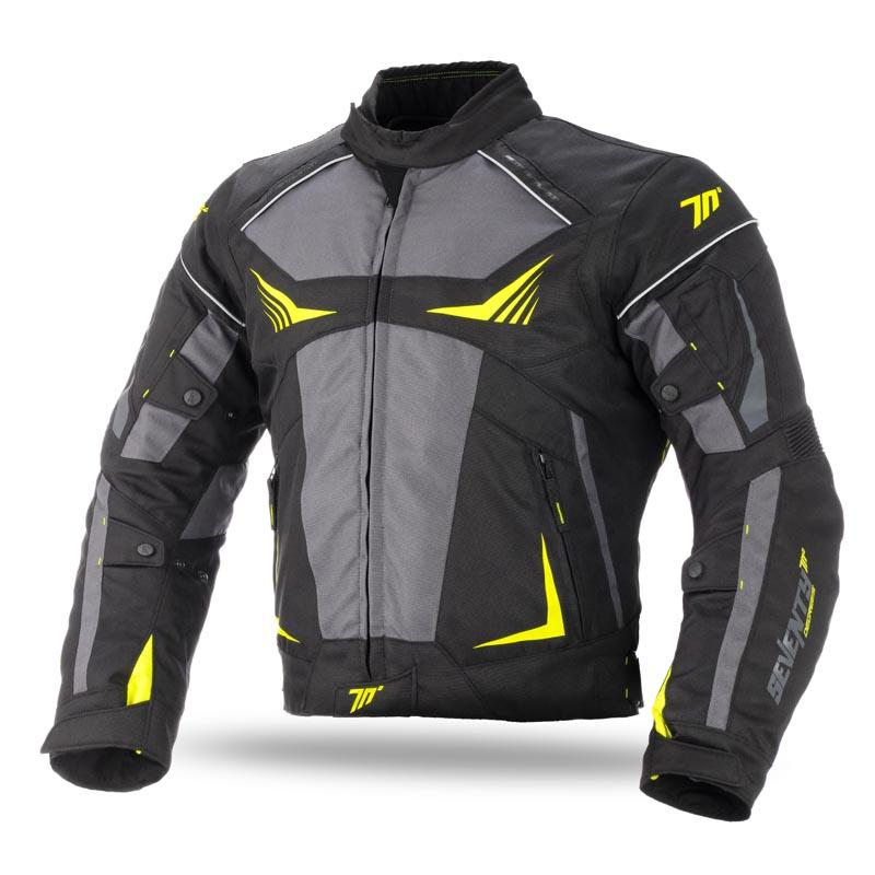 Chaqueta Moto Racing Negro-Fluor de Invierno para Hombre  10fce60ddcbf6