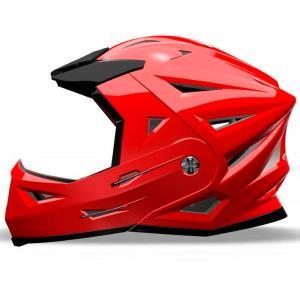 casco 4 x-treme shiro rojo off road