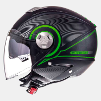 Casco Mt City Eleven Sv Tron Negro Mate-Verde