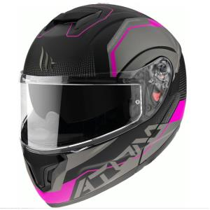 Casco MT Atom SV Quark A8 rosa
