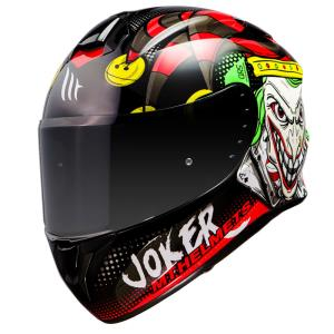 Casco Mt Targo Joker Negro Brillo