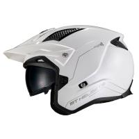 Casco Trial Mt District Sv A0 Blanco Brillo