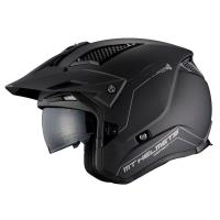 Casco Trial Mt District Sv A1 Negro Mate