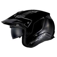 Casco Trial Mt District Sv A1 Negro Brillo