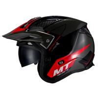 Casco Trial Mt District Sv SUMMIT H5 Rojo Brillo