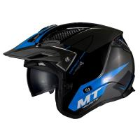 Casco Trial Mt District Sv SUMMIT H7 Azul Brillo