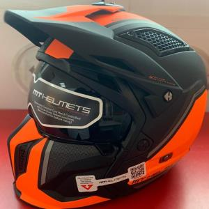 Casco Mt Streetfighter SV C4 Naranja Mate