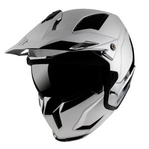 Casco Mt Streetfighter Sv Chromed A2 plata