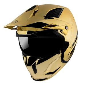 Casco Mt Streetfighter Sv Chromed A9 oro