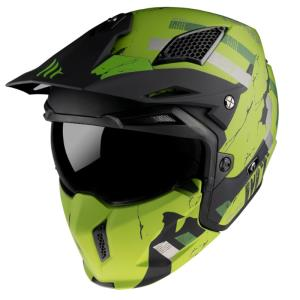 Casco Mt Streetfighter Skull2020 A12 verde mate