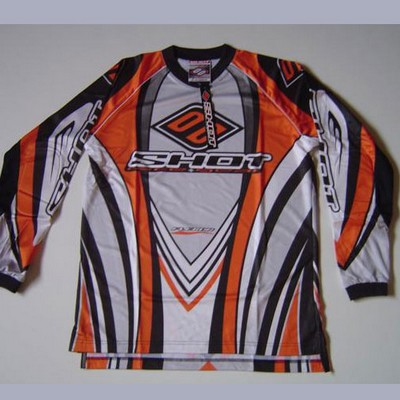 Camiseta cross-enduro shot flexor negro y naranja