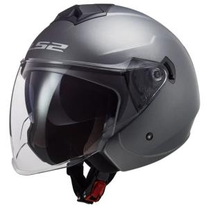 Casco LS2 Twister II Solid titanio