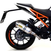 Escape aluminio fondo acero Arrow KTM Duke 125-390,RC 125-390 17-