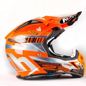 Casco Aviator 2.3 Novak Orange chrome talla L