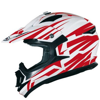Casco Motocross Shiro modelo Bravo en colores
