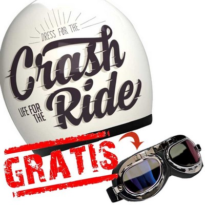 Casco Custom Vintage marca Shiro modelo Crash Ride