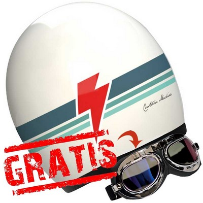 Casco Custom Vintage marca Shiro modelo Machina
