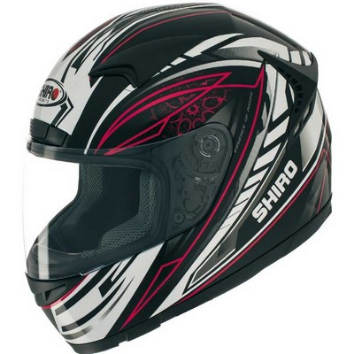 Casco Shiro Racing Integral en resina ABS Motion