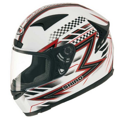 Casco Shiro Racing Integral en resina ABS Action