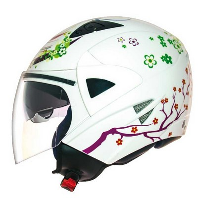 Casco Jet  moto Shiro de resina ABS Monocolor Modelo Ice-Fairy