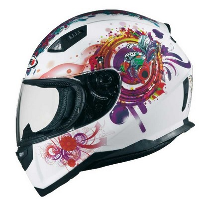 Casco Shiro Integral Racing en resina ABS Princess