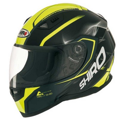 Casco Shiro Integral Racing en resina ABS Motegi