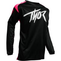 Camiseta Motocross Thor Sector Link Negro y Rosa