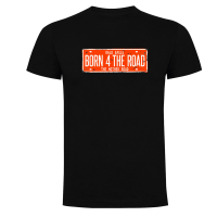 Camiseta BORN 4 THE ROAD hombre negra TZOR