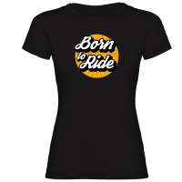 Camiseta BORN TO RIDE negra mujer by TZOR