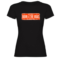 Camiseta BORN 4 THE ROAD negra mujer by TZOR