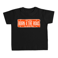 Camiseta BORN 4 THE ROAD bebé negra by TZOR
