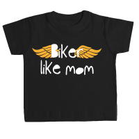 Camiseta BIKER LIKE MOM bebé negra by TZOR