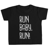 Camiseta RUN BABY RUN! bebé negra by TZOR